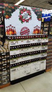 Wall of cider at HEB