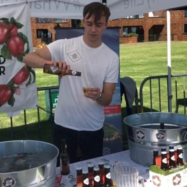 Pouring The Good Cider at the Tiburon Taps Beer Festival
